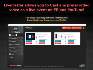 Livecaster coupon discount code 30 off promo deal coupon livecaster is one of the best live casting software that is designed for youtube and facebook it enables you to pre record malvernweather Choice Image